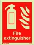 Fire equipment location sign